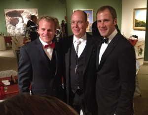 Joe Riis (left) and Arthur Middleton (right) with Prince Albert II of Monaco